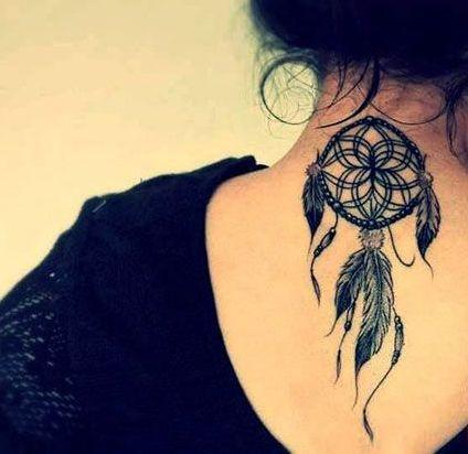 Atrapasueños En Nuca Tattoo Ext Tatuajes Atrapasueños Atrapa
