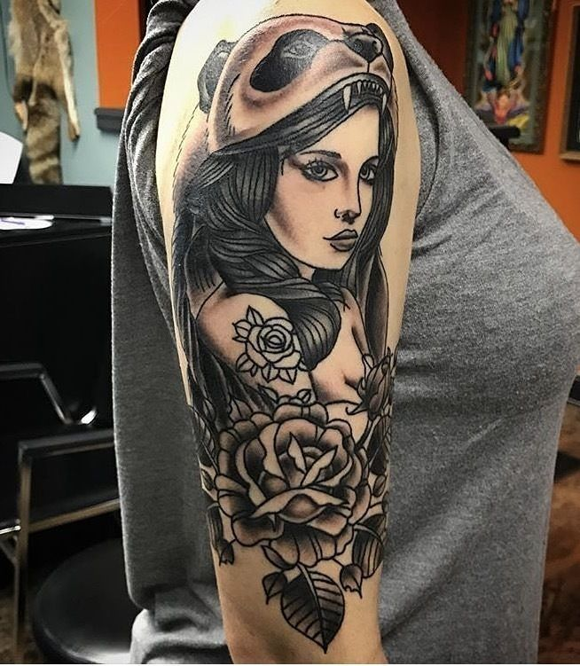 Tattoo Done By Cj Esparrago Seajayesparrago Blacksquirrelomaha In Omaha Ne Booking Cjtattooer Gmail Com Tattooofth Tattoos Huntress Tattoo Portrait Tattoo