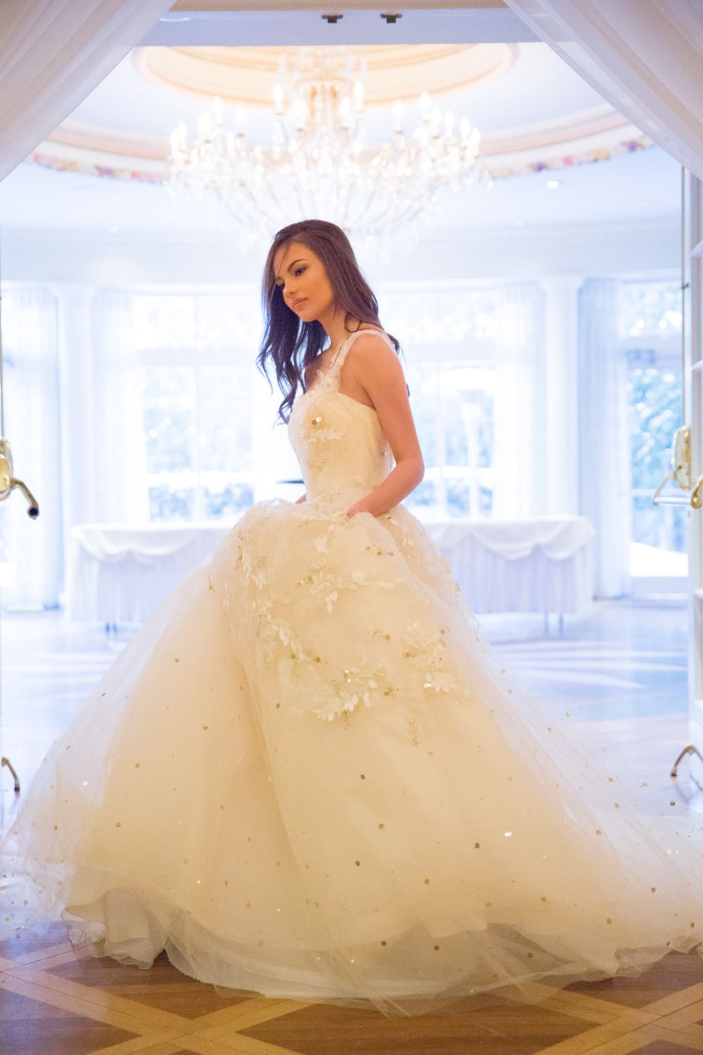 Ines Di Santos Gown / Gold & Apricot Wedding~ SMP