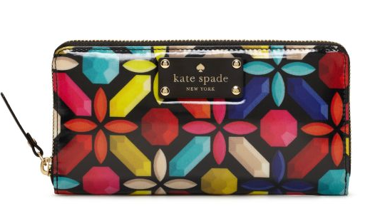 Bright geometric wallet. Kate Spade.