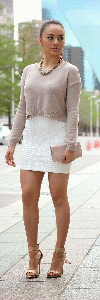 Cropped Sweater & Mini Skirt