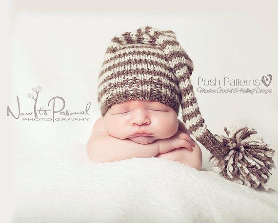 Knitting Pattern Baby Elf Hat Pixie Hat Pattern By Poshpatterns