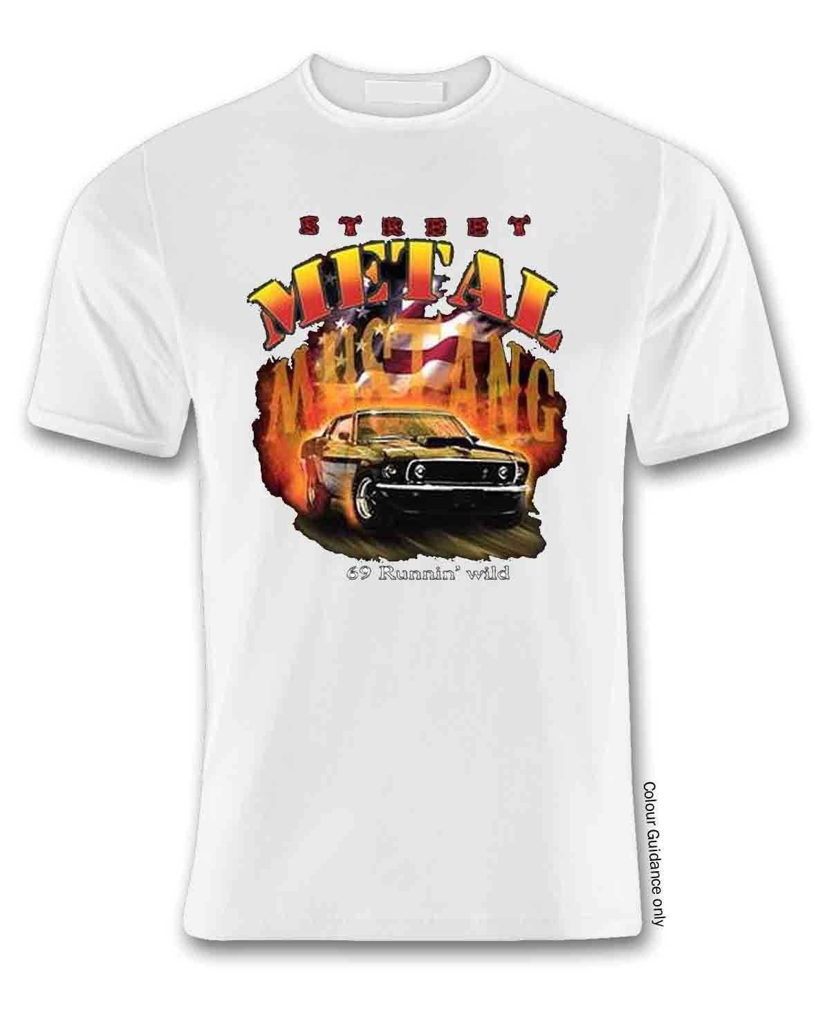 Ford streat metal white t shirt