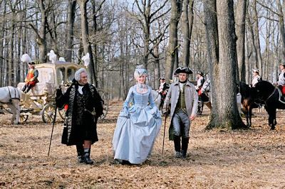 Marie Antoinette's arrival to meet the king and her future husband