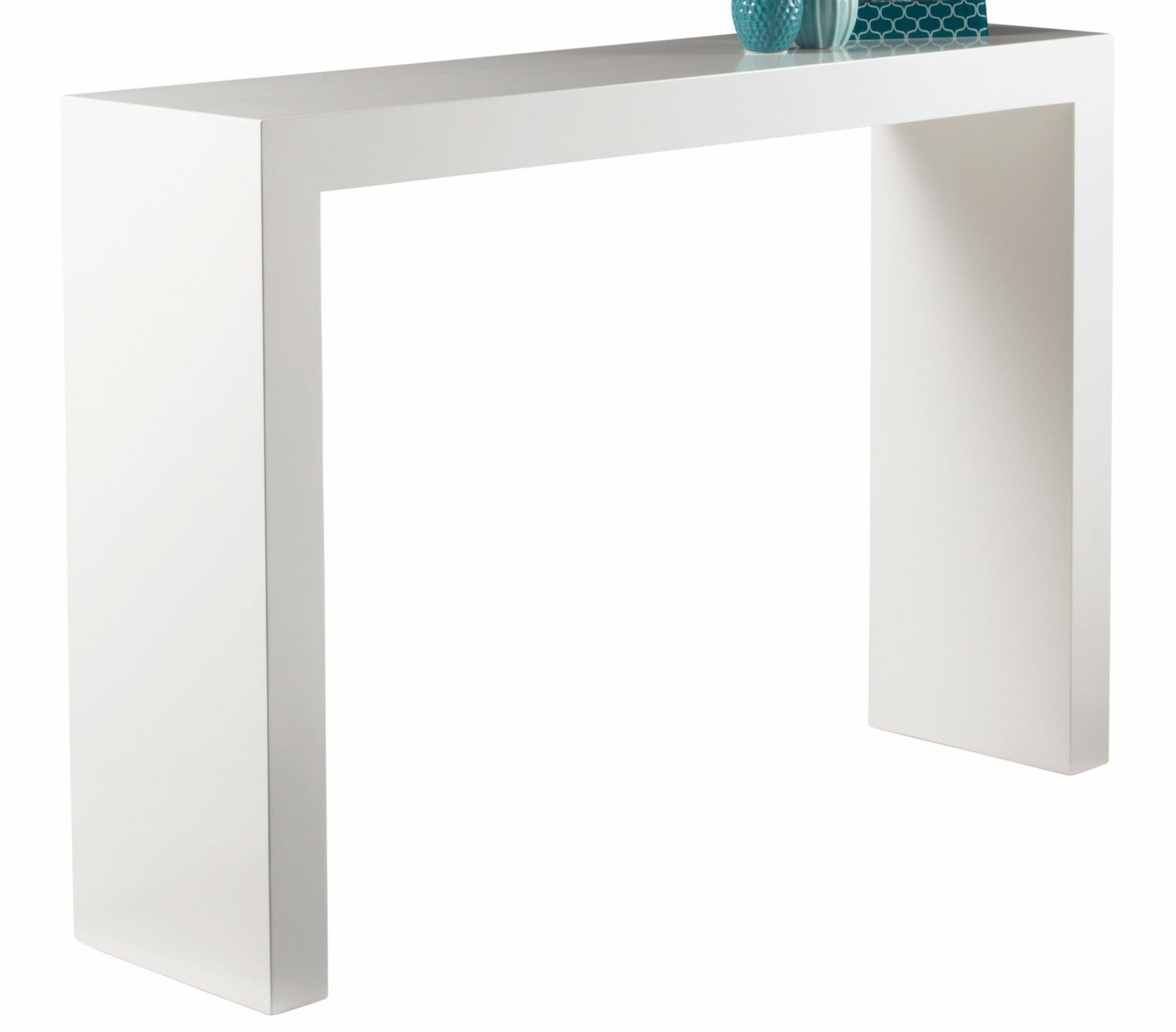 Arch white high gloss console table 89586 sunpan decker arch white high gloss console table 89586 sunpan geotapseo Gallery