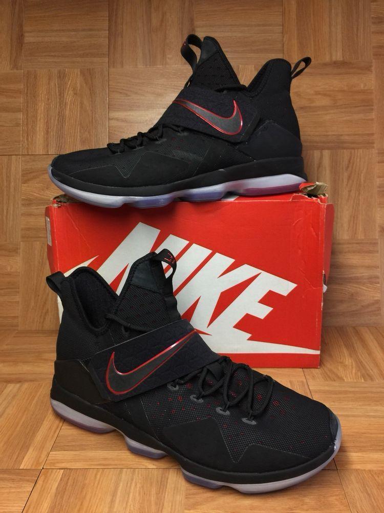buy popular 890b9 88165 RARE🔥 Nike LeBron 14 XIV Bred Black University Red 852405-004 Sz 15 Men s  Shoes