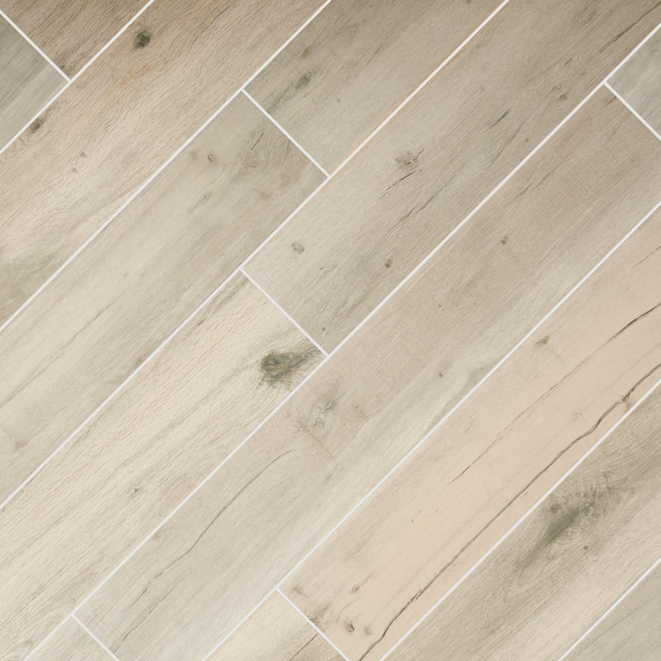 Gray Wood Plank Porcelain Tile