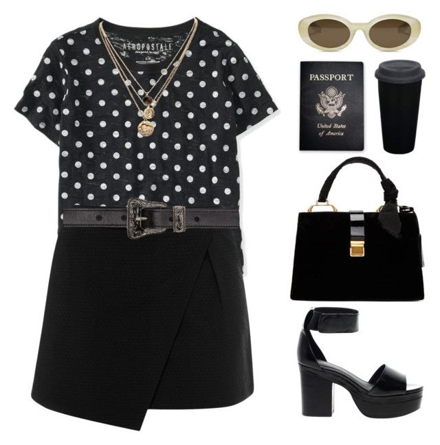 """""""Working For It"""" by gitasamudra ❤ liked on Polyvore featuring Aéropostale, Warehouse, Elizabeth and James, LowLuv, Yves Saint Laurent, ASOS, Miu Miu and Passport"""