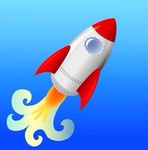 Rocket Ship Clipart Image - Clip art Illustration of a ...