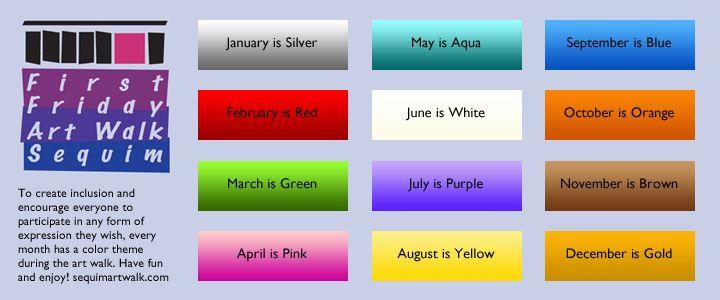 Month Colors Color Coding January Blues Month Colors
