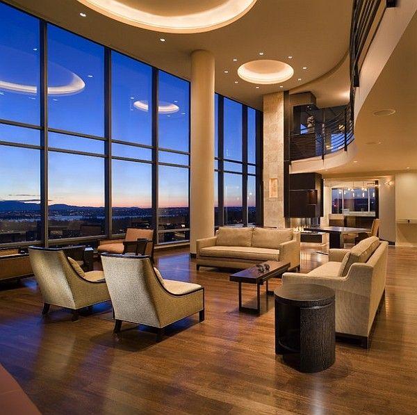 Mezzanine Floor Design stunning living room with a curvaceous mezzanine - decoist