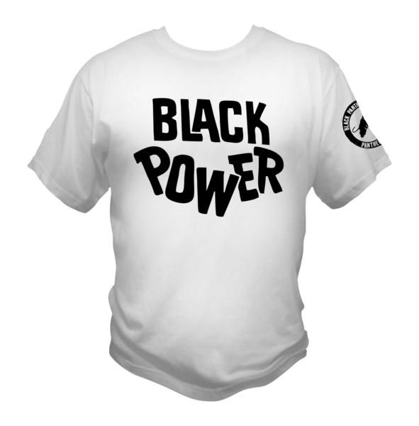 711184d09 Black Panther Party Black Power white T-Shirt Graphic Tee Afrocentric