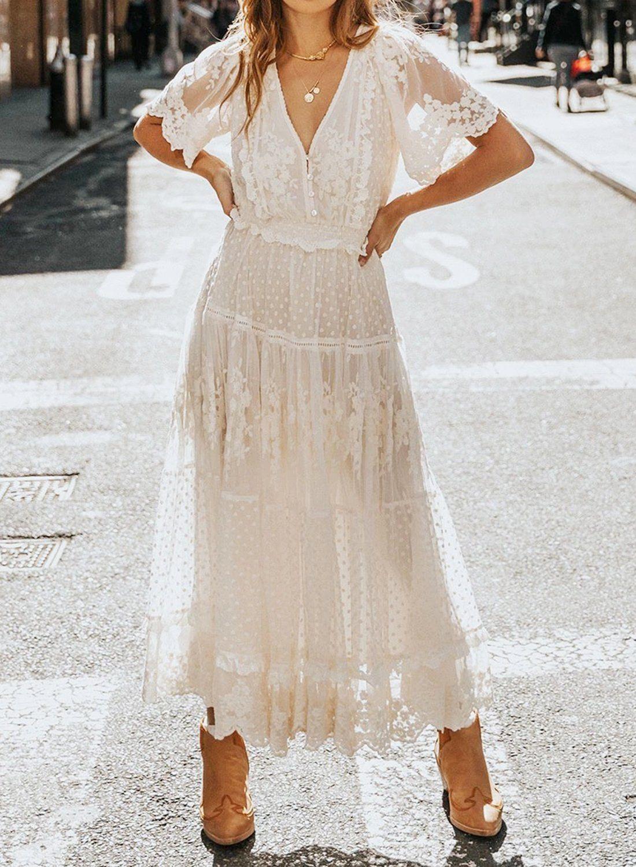 V Neck Tunic Lace Maxi Dress Rosekini Lace Maxi Dress Elegant Maxi Dress Womens Dresses [ 1500 x 1100 Pixel ]