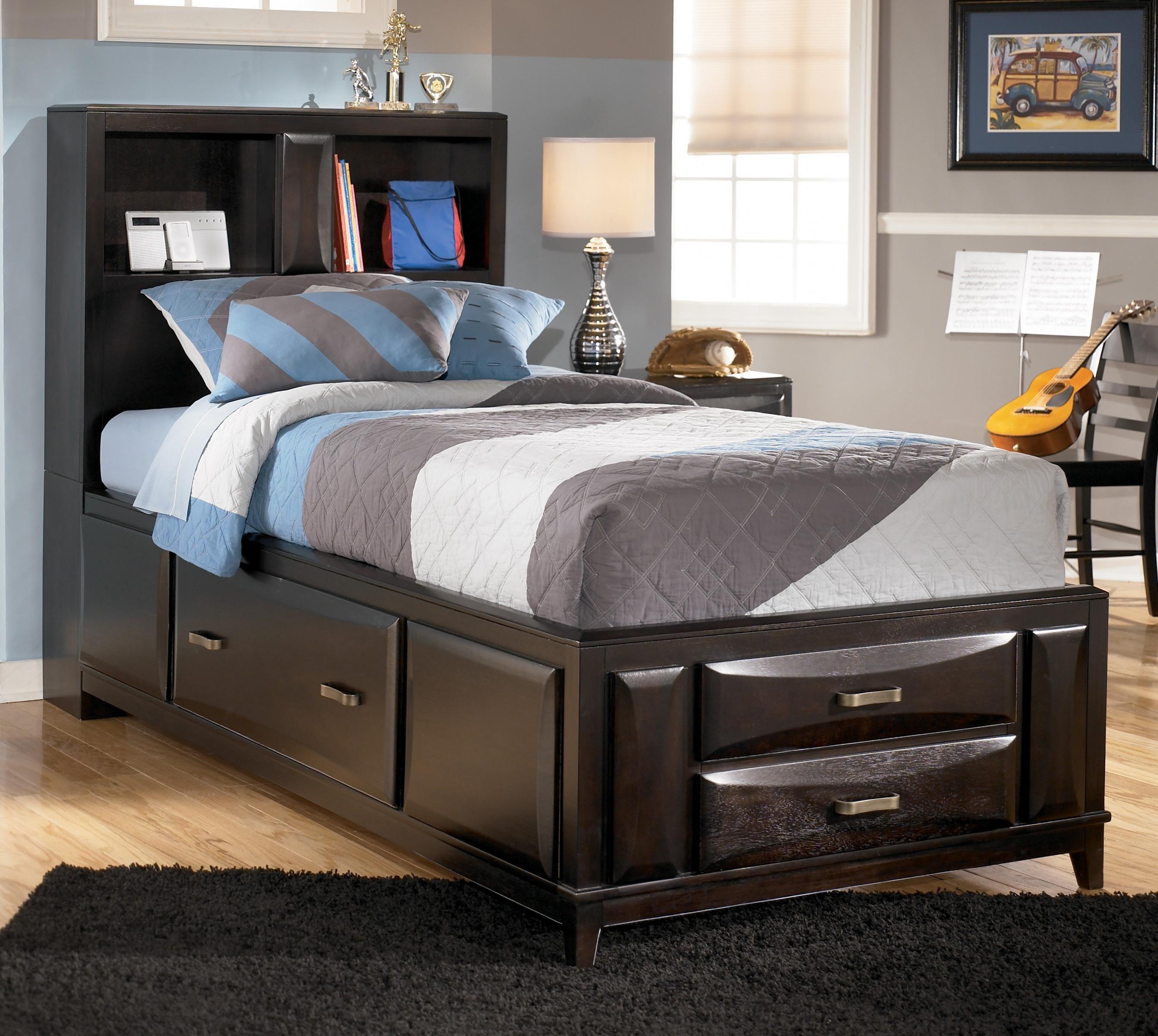 Ashley Twin Bed Headboard Storage