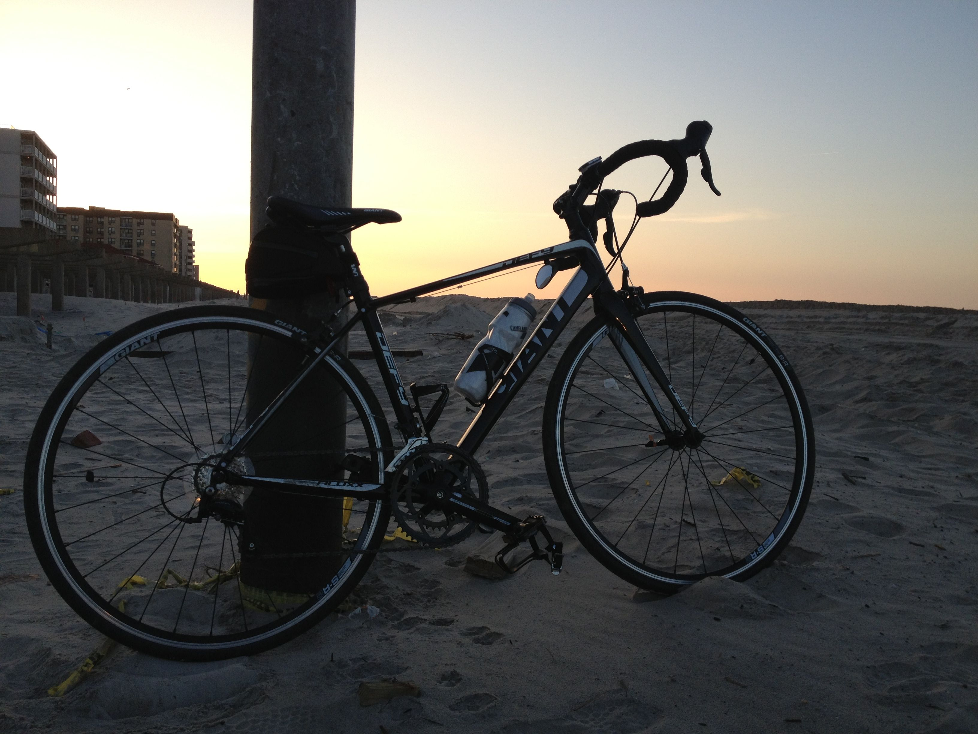 Sunrise on the beach with my new BFF.