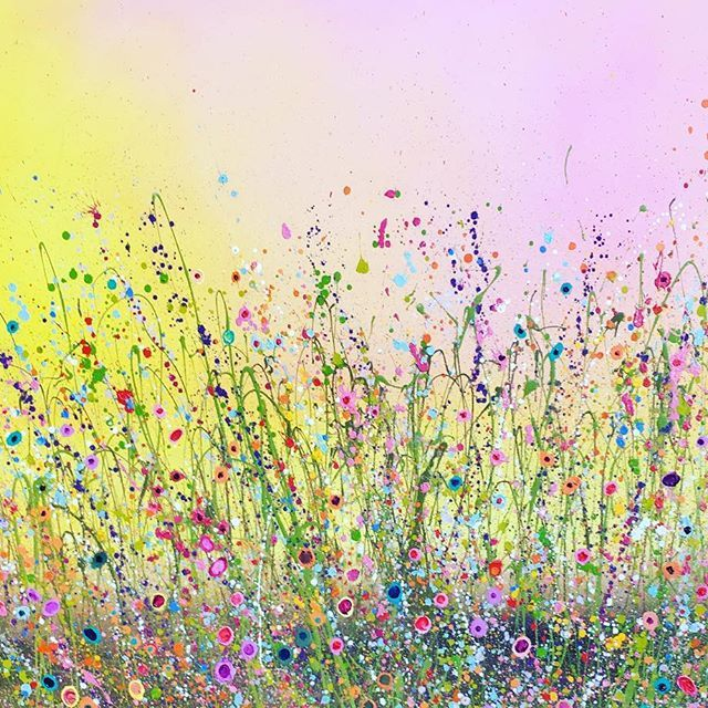 Flowerscapes wild flower paintings wild flowers canvases and paintings