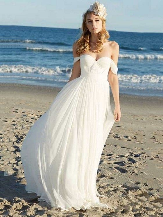 Beach Weddings Are Intimate And Extremely Romantic But In Addition They Offer You Cheap Beach Wedding Dresses Summer Wedding Dress Summer Wedding Dress Beach