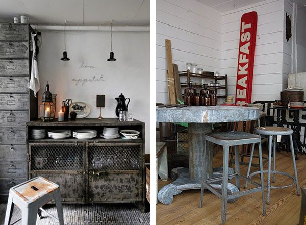 home shabby homearredare vintage: zinco industrial chic | i ... - Arredamento Industriale Casa