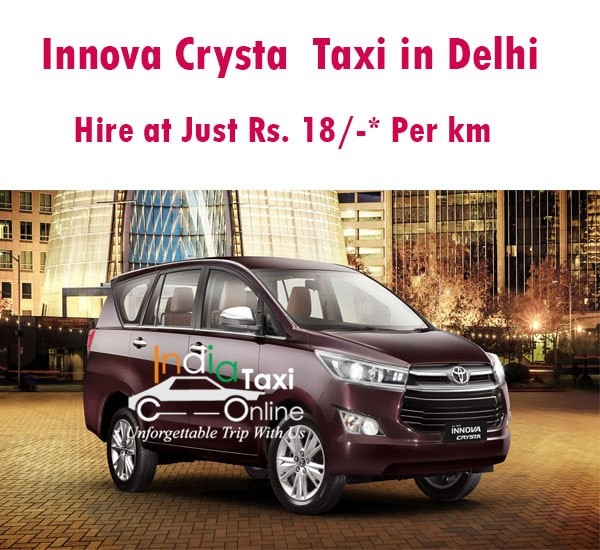 Book Innova Crysta On Rent In Delhi With India Taxi Online Lowest Rates For Innova Crysta Toyota Innova Crysta On Re In 2020 Car Rental Company Local Tour Car Rental