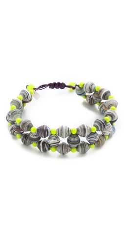 Chan Luu EFI Combo Bracelet - Made from recycled paper and neon beads!