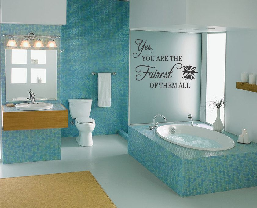 Bathroom Wall Decal   Fairest Of Them All   Princess   Vinyl Wall Art  Sticker (