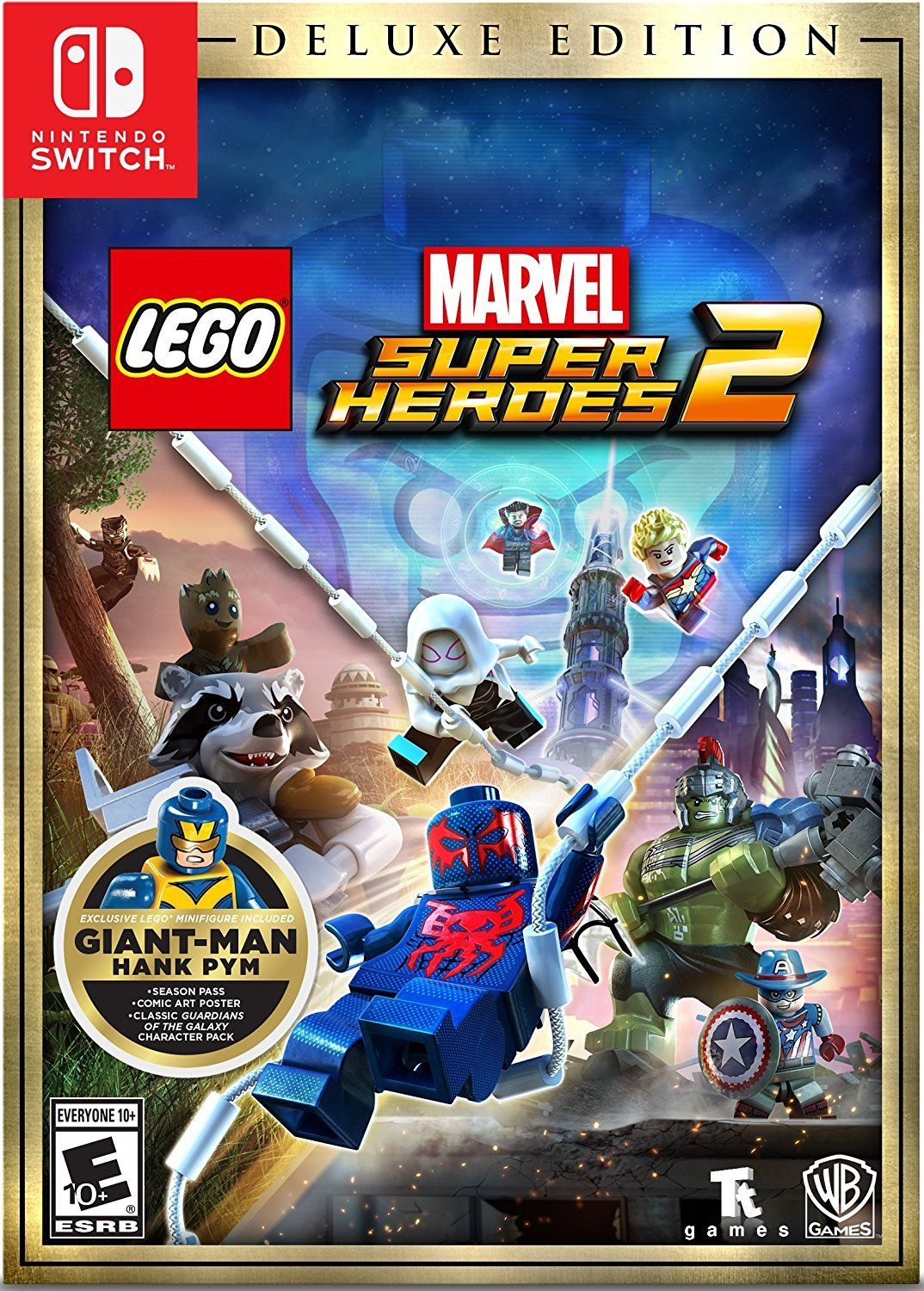 LEGO Marvel Super Heroes 2 Game Cover Nintendo Switch Deluxe | Video