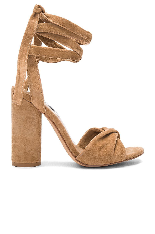 Steve SuedeZapatos Sandalias Madden Camel Clary Heel Heels In PXuZkOi