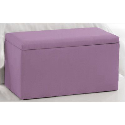 Skyline Furniture Duck Storage Ottoman Upholstery: Lilac