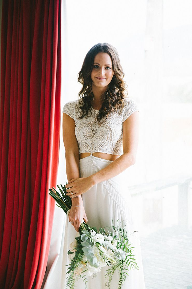 An intimate outdoor wedding white bouquets wedding dress and weddings