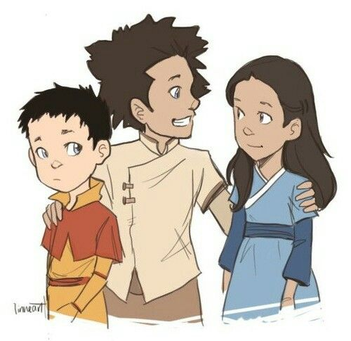 Bumi, Kya, and Tenzin
