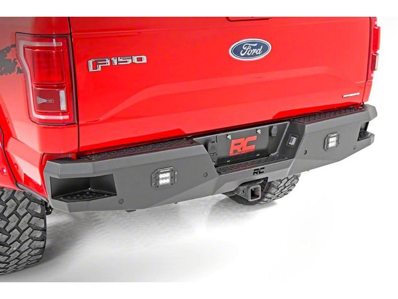 Rough Country F 150 Heavy Duty Led Rear Bumper 10771 15 20 F 150 Excluding Raptor Ford Heavy Duty Bumpers Truck Bed
