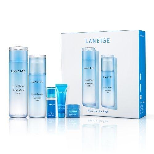 Laneige Basic Duo Set Light Essential Power Skin Refiner Balancing Emulsion Laneige Gel Face Moisturizer Moisturizer