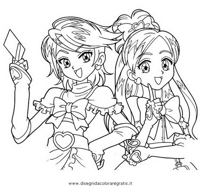 pretty cure coloring pages - Google Search | Anime coloring pages ...