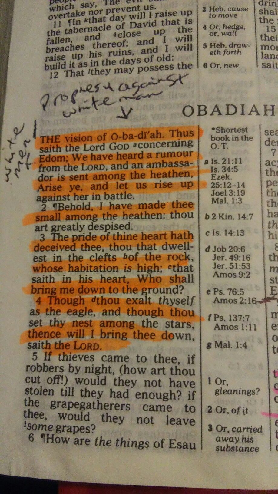 Obadiah is the shortest book in the biblethese scriptures