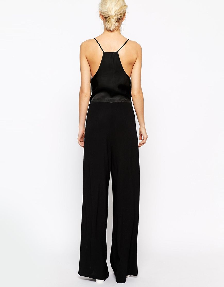 Image 2 ofWeekday Strappy Wide Leg Jumpsuit