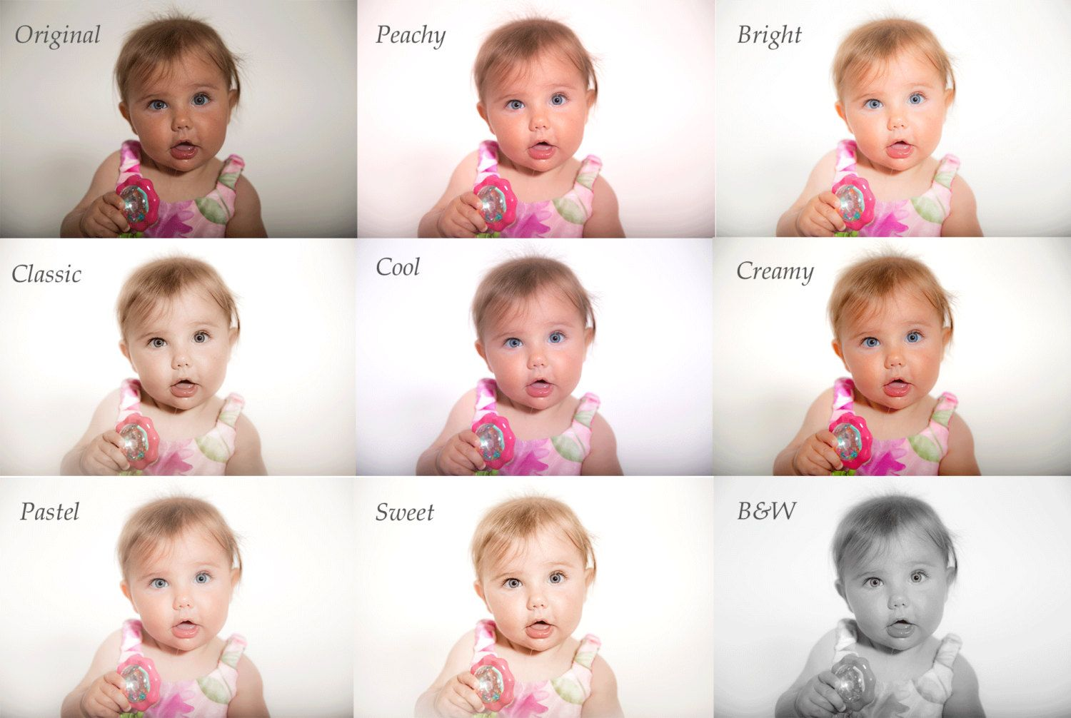 Lightroom presets baby portrait presets newborn presets high key presets by zenztreasures on etsy