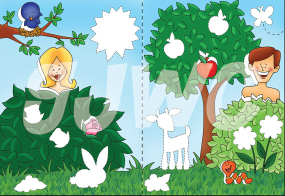 GARDEN of EDEN Children\'s File Folder Game - Downloadable PDF Only ...