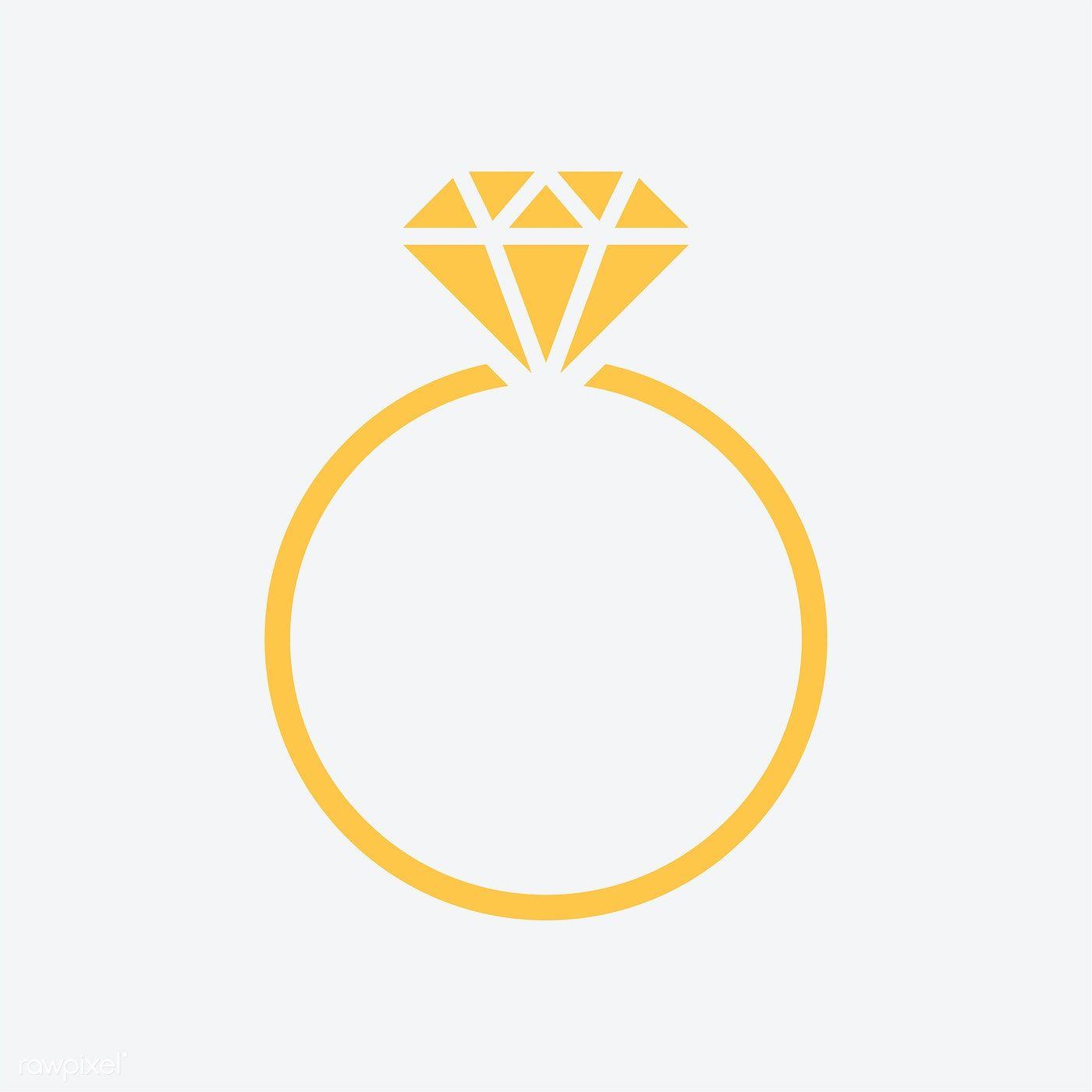Diamond Wedding Ring Graphic Illustration Free Image By Rawpixel Com Manotang Wedding Ring Graphic Graphic Illustration Ring Logo