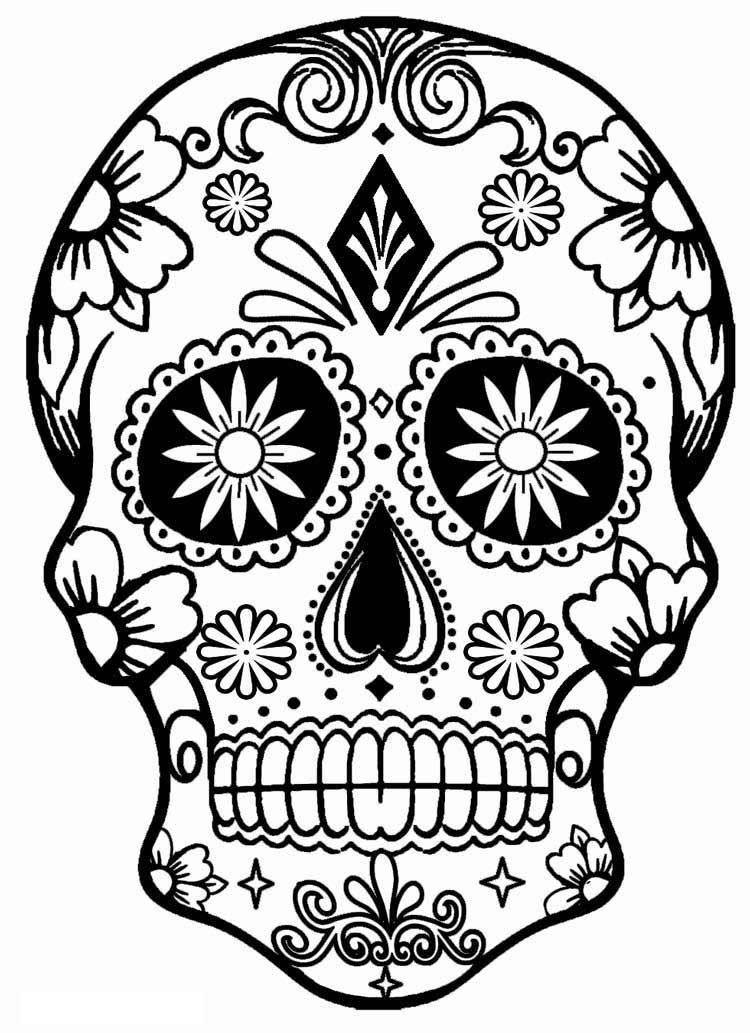 Sugar Skull Disegno Teschio Teschi Disegni Di Halloween