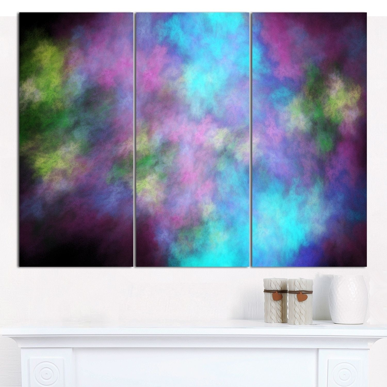 Design art designart uperfect blue starry skyu abstract wall artwork