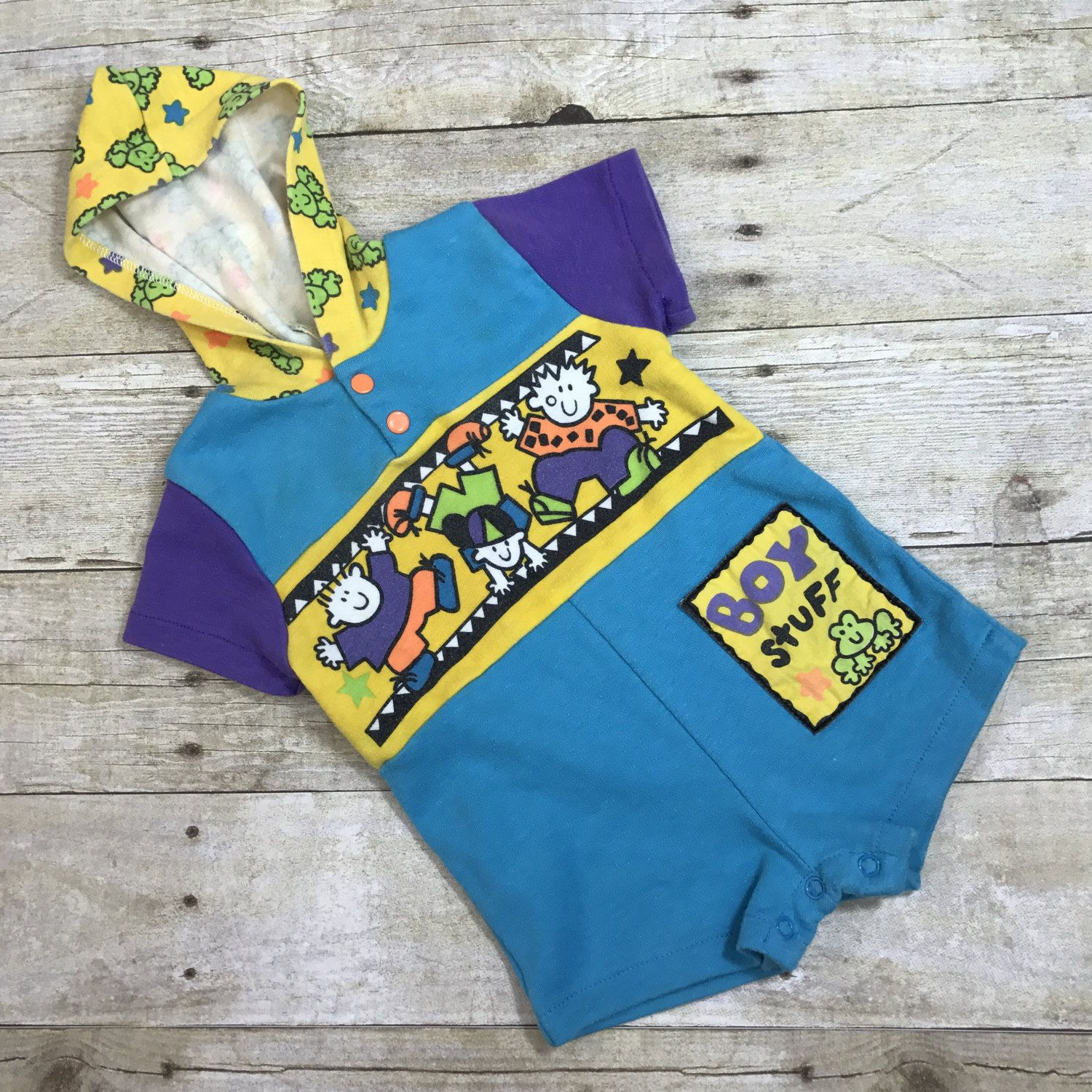Vtg Baby Clothes Baby Boy Jumper Romper Baby Boy Clothes 0 6