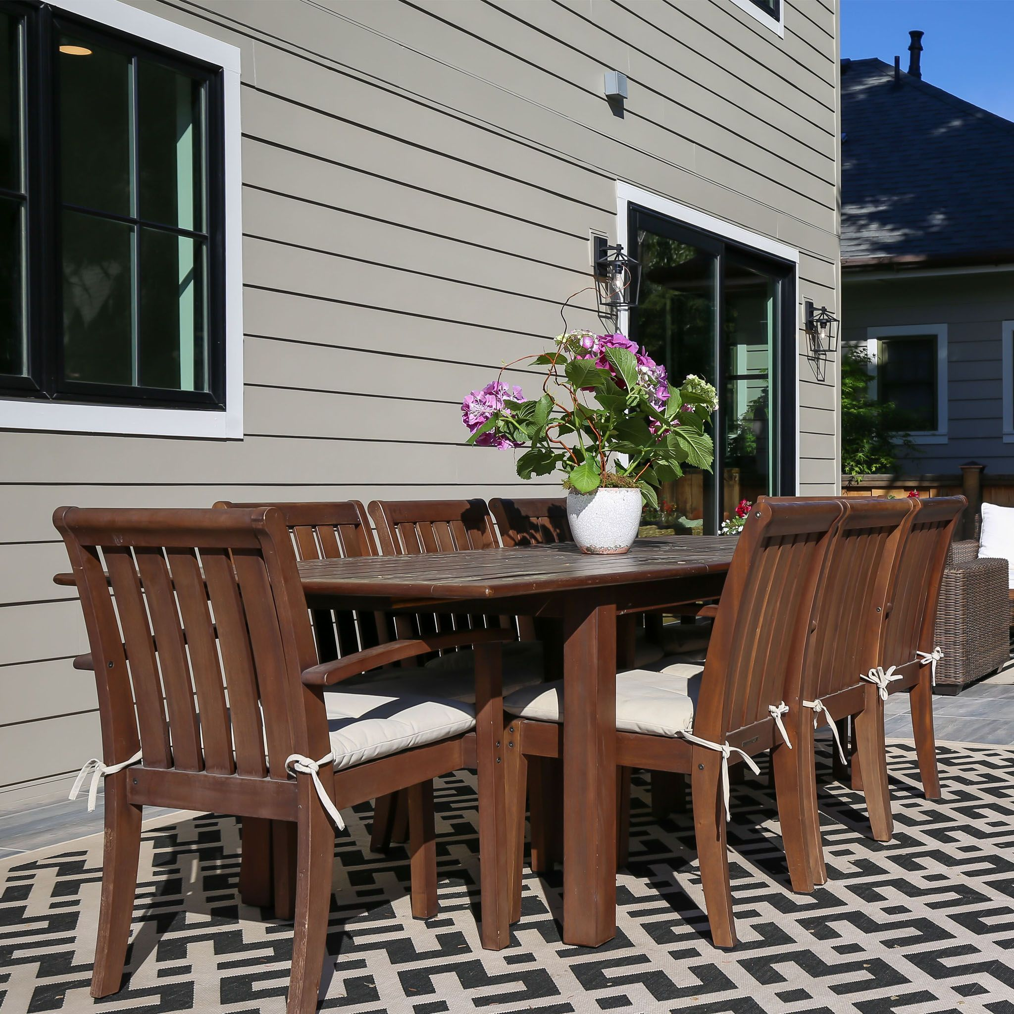 Patio Furniture Store Boise: Wooden Outdoor Table, Outdoor Furniture Sets