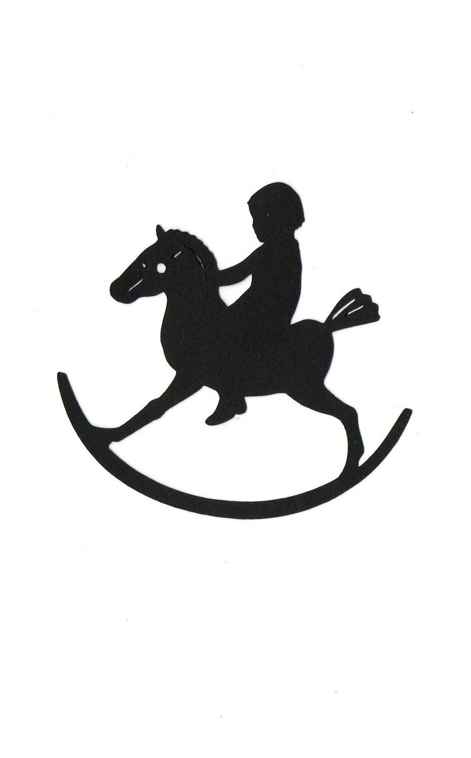 Rocking horse Child Silhouette | silouettes | Pinterest ...