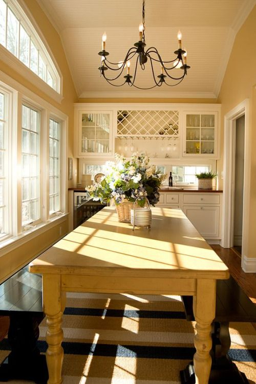 Narrow Sunroom Turned Into A Country Dining Room That Seats 10 Classy Country Dining Room Lighting Review