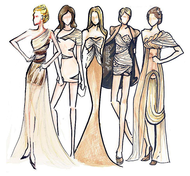 how to draw ruching - Поиск в Google | fashion drawing | Pinterest ...