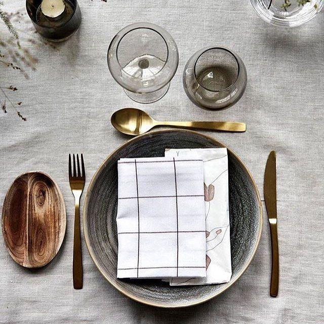 Minimalist Scandinavian Style From Housedoctordk Gold Cutlery And Wooden Plates New In Stock Estheticliving Scandinavianstyle Minimaliststyle Neutr