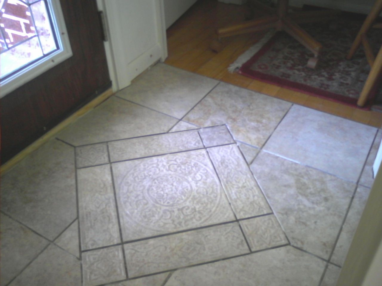 tiled entryway On tile for entry foyer