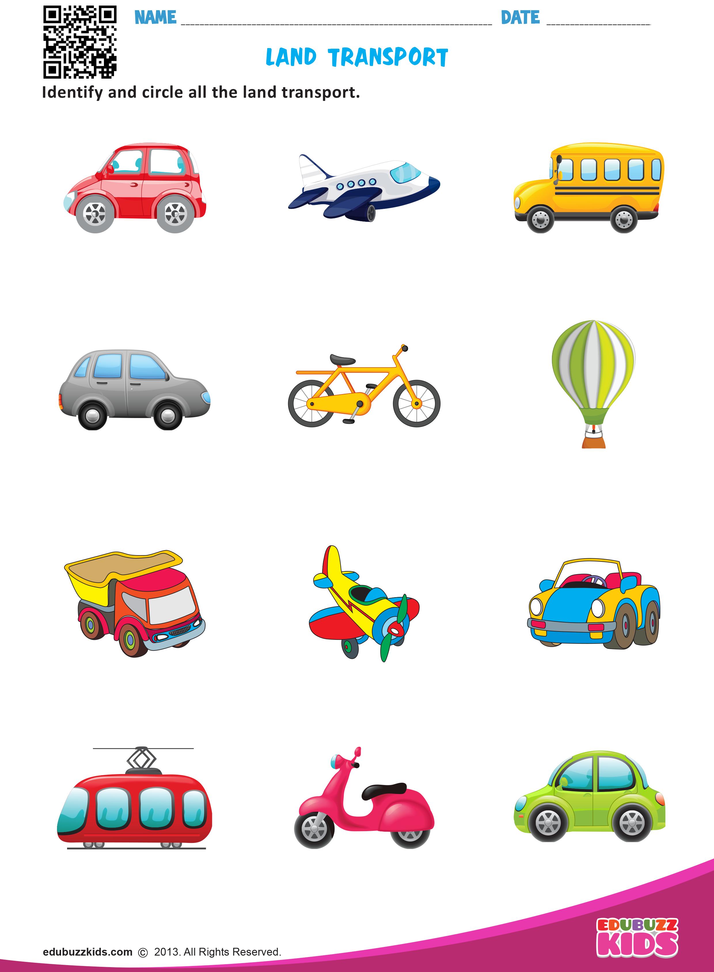 Land Transport Transportation Preschool Transportation Theme Preschool Transportation Worksheet [ 3374 x 2480 Pixel ]