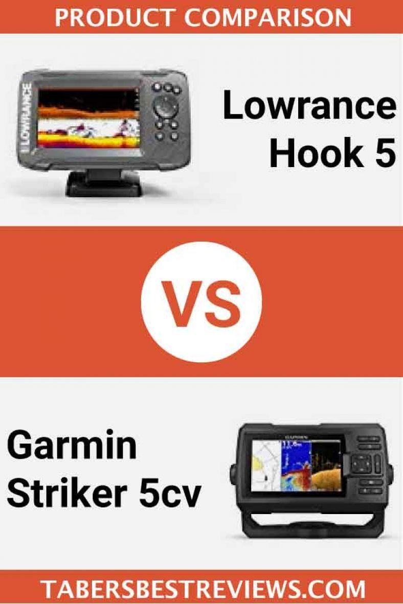 Lowrance Hook 5 VS Garmin Striker 5cv Head To Head