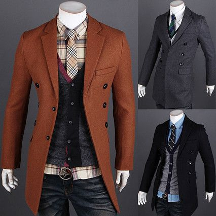Modern Men Fashion Slim Fit Long Blazer Coat | Sneak Outfitters ...